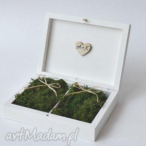 pudełko na obrączki ślubne rustykalne, ślub, pudełkanaobrączki, vintage, dekoracje