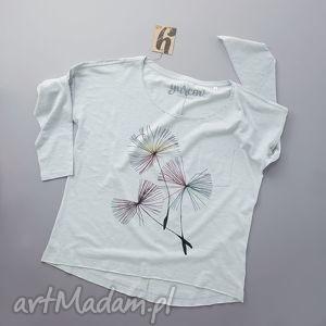dandelions bluzka z długim rękawem, longsleeve, rekaw, dekolt, nadruk