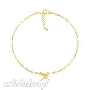 bransoletki celebrate - hummingbird connector bracelet g, koliber, srebro