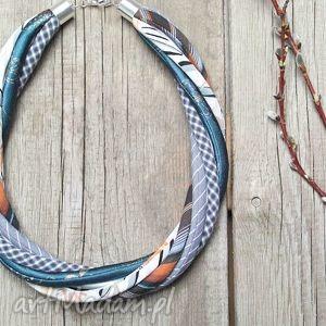 naszyjniki modny naszyjnik z kolorowych tkanin - lato, naszyjnik, naszyjniki, korale