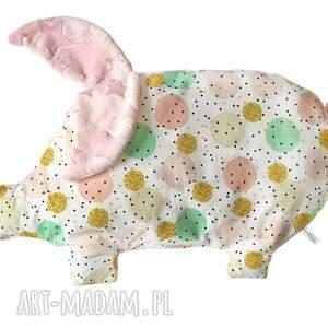 poduszka świnka, poduszka, niemowle, dziecko, minky pokoik dziecka dla dziecka