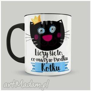kubek liczy się to, co masz w środku, kotku, koty, ceramika, walentynki