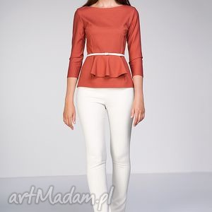 Bluzka Denisa, moda, baskinka, rudy