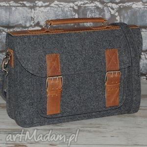 filcowa torba na faptopa 15 z przegrodą, torba, filcowa, listonoszka, laptop, laptopa