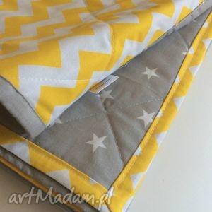 pokoik dziecka narzuta żółty zygzak 100x180cm, dziecięce, koc, narzuta, łóżko, piękna