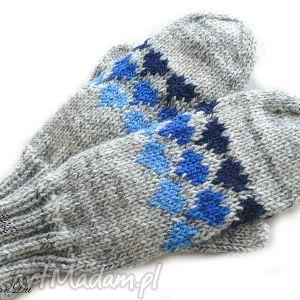 melanżowe rękawiczki - rękawiczki, jednopalczaste, serca, walentynki