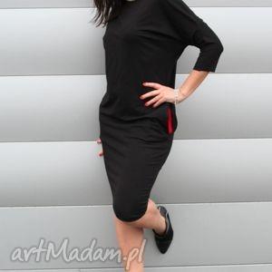 sukienka dresowa ołowkowa oversize, sukienka, dresowa, czarna, ołówkowa