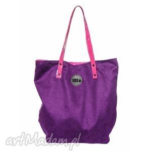 torba worek lila fuksja, worek, podróże, rodzina, zakupy torebki, wyjątkowy prezent