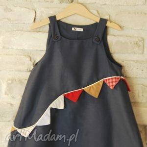 ubranka sukienka chorągiewka , sukienka, chorągiewki, kolor, bawełna, zabawa dla