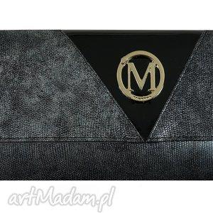 kopertówki kopertówka koperta manzana idealna na karnawał - metaliczna szara
