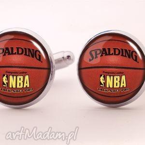 piłka koszykowa - spinki do mankietów - spinki, piłka, koszykowa