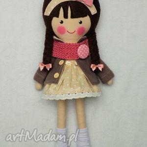hand-made lalki malowana lala katarzyna z wełnianym szalikiem