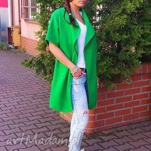 płaszczyk narzutka cashmere - verde, płaszcz, narzutka, outfit, kamizelka, wiosna