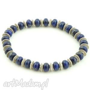 Lapis Lazuli męska bransoletka, lapis, lazuli, sakiewka, ozdobna