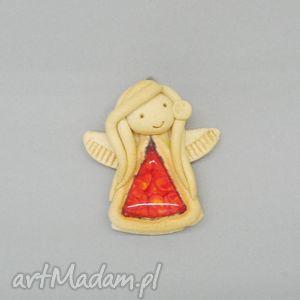 ceramika aniołek radości, dekoracja, ceramika, handmade, aniołek, wnętrze, ściana