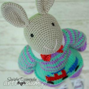maskotki szydełkowy króliczek nino przytulanka, maskotka, chłopiec