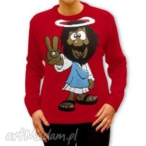 swetry sweter świąteczny - unisex jezus rasta s, m, l, xl, xxl , sweter, święta