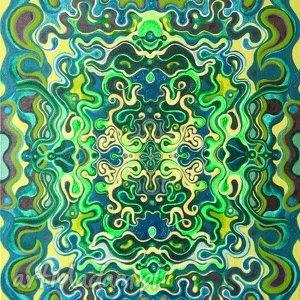 podwójna symetria kosmiczna 2, obraz, abstrakcja, symatria, kosmos