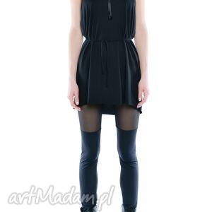 milita nikonorov leggisny - dwie czernie tiul i jersey, elastyczne, czarne, wygodne