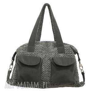 09-0006 szara torba sportowa torebka fitness tit, modne, markowe, torebki