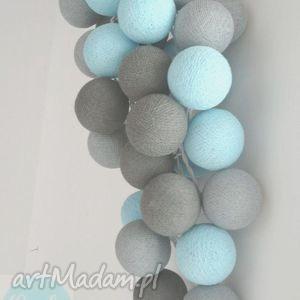 qule lampki cotton ball lights magia turkusu 20 qul - wystrój, domu, świetlne