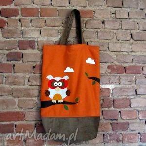 torebki torba z sową xxl, sowa, dres, filc, torba