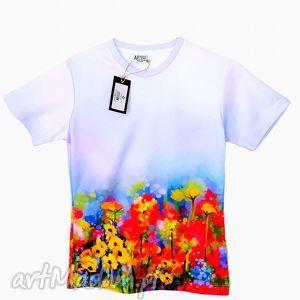 koszulki bluzka damska - abstract spring flowers jakość premium , damska, artystyczna