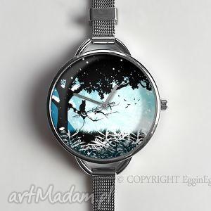 magiczny świat - zegarek z dużą tarczką, zegarek, magiczny, świat, zimowy, śnieg
