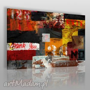 obraz na płótnie - napisy street art 120x80 cm 44501 , wlepki, napisy, streetart