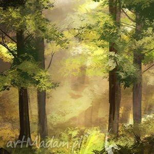 obraz - las płótno, obraz, płótnie, las, natura, drzewa, prezent dom