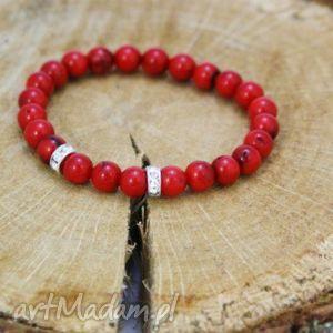 bransoletka koral, bransoletka, kamień, elastyczna, kulki