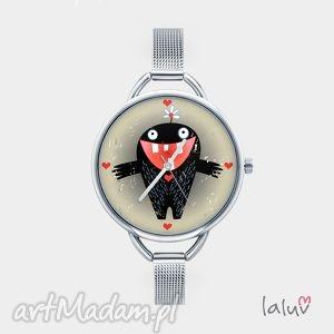 zegarki zegarek z grafiką monster of love, bransoletka, miłość, potworek, słodki