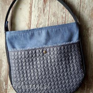 torba hobo z kieszenią, torba, pikowana, kropki, modna, prezent, torebka, pod choinkę