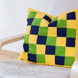 poduszka mix kolorów patchwork, poduszka, bawełna, tkanina, wygodna