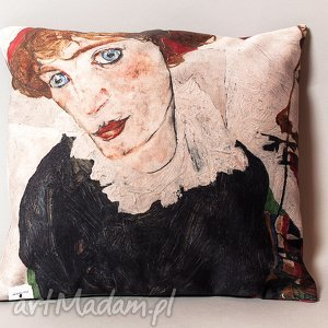 poszewka na mała poduszkę jasiek - schiele, poduszka, jaksiek, sztuka