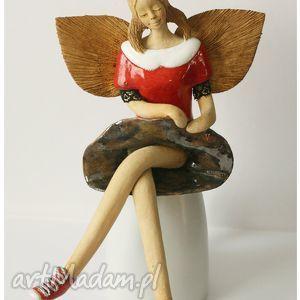 wylegarnia pomyslow anioł w trampkach, anioł, ceramika dom