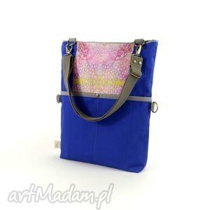 torba na ramię składana z serii duo blue no 2 , miejska, składana, listonoszka