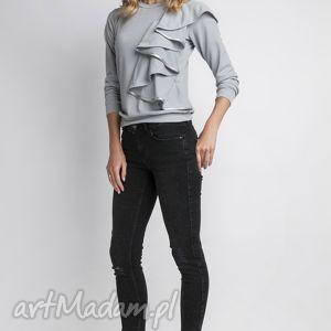 lanti urban fashion bluzka, blu119 szary, dzianina, szara, falbanka