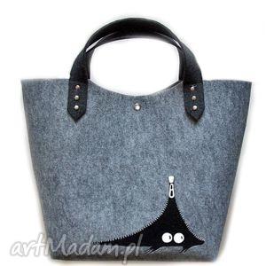 filcowa torba a kuku, filc, torba, prezent, malowana, pod choinkę