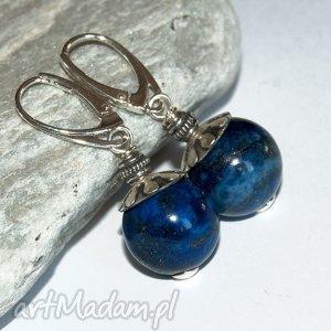 a452 Eleganckie kolczyki z lapis lazuli, kolczykikobiece, klasyczne, eleganckie