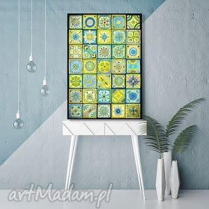 Mozaika A3, mozaika, marokański, obraz, plakat, rysunek