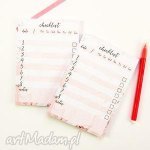 lista zadań do zrobienia, zestaw 2 notesów a6, notes, marmurkowy, checklist
