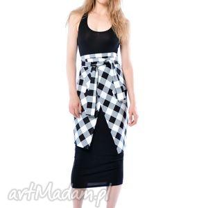 spódnice helena - kopertowa spódnica w kratę, spódnica, krata, ubrania
