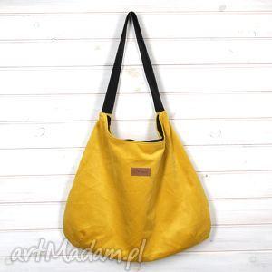 torba julia żółta, torba, ramię, pojemna, duża, prezent