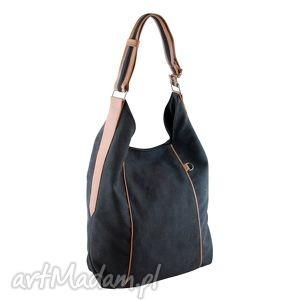 furia - torba worek grafit z beżem, worek, wygodna, swobodna, prezent, alkantara