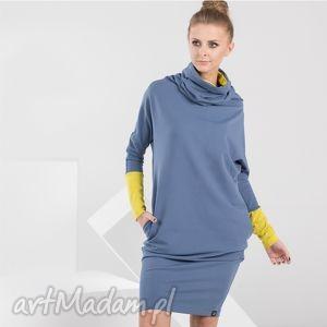 LONG TUBE | sukienka dresowa z kominem, sukienka, dresowa, komin, tuba, dzianina