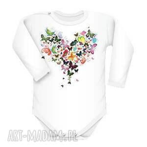 unikalny prezent, body motylki, body, śmieszne, serce dla dziecka