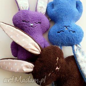 maskotki luluś fioletowy, luluś, królik, zając, pod choinkę prezent