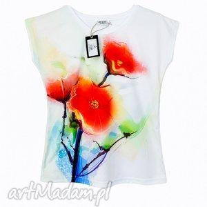 artystyczna bluzka damska - abstrakcyjne maki wysoka jakość , kwiatowa