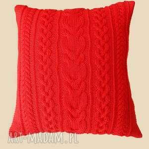 poduszki poduszka duża czerwona
